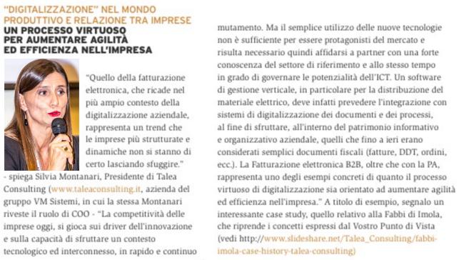 Digitalizzazione: punto di vista Silvia Montanari