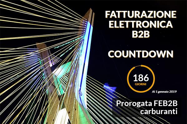 Fatturazione Elettronica B2B Countdown - proroga carburanti