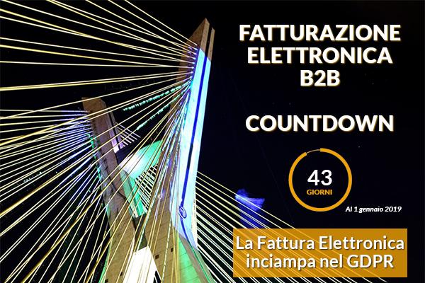 Fatturazione Elettronica B2B Countdown - GDPR