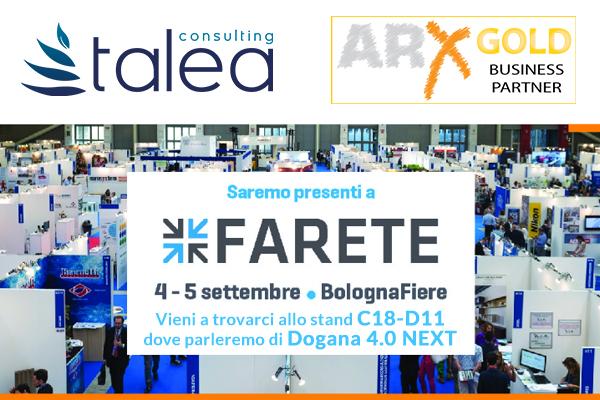 Invito Farete 2019 - speech Dogana 4.0