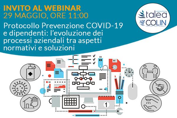 Invito al Webinar del 29 maggio per prevenzione covid