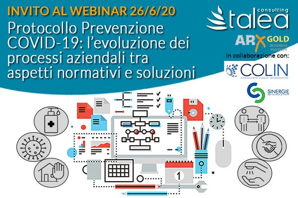 Invito Webinar Protocolli COVID - Sinergie Confindustria