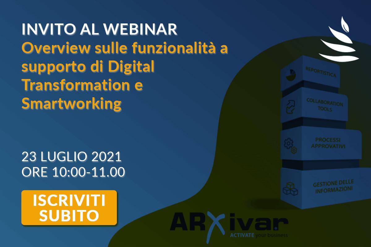 ARXivar NEXT: partecipa al webinar gratuito del 23 Luglio 2021